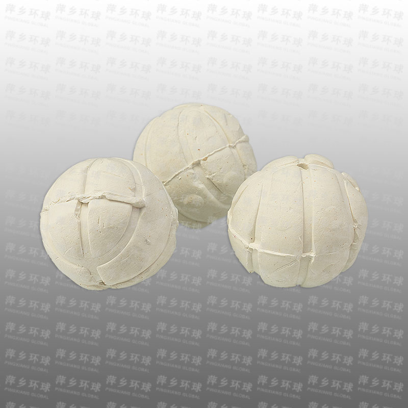 Slotted & perforated ceramic ball